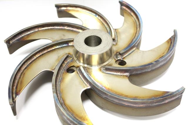 Angefertigte und verschweißte Schaufeln für Pumpenlaufrad